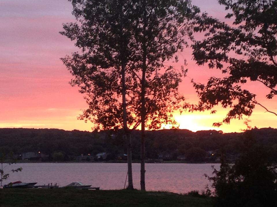 September sunrise at the Rental Cottage Ontario