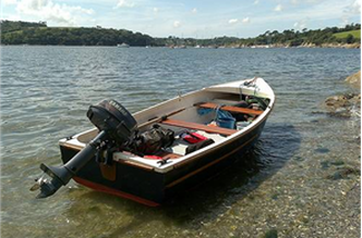 Boat and motor available at the Ontario Cottage Rental